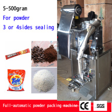 Dosagem de grânulos de pó e enchimento de alta velocidade e precisão Máquina de vedação de enchimento de forma de saco lateral 4 automática