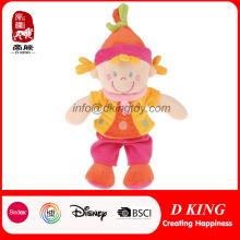 Lovely Pink Soft Plush Toy Stuffed Dolls para meninas