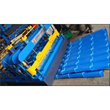 Produzieren Sie Dachziegel-Formmaschine / glasierte Fliesenherstellungsmaschine / Stahlblech-Rollformer