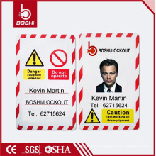BOSHI BD-P05 PVC Tag Safety Lockout Tag, Personal Photo Available, Customization Acceptable