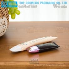 30mm diamètre unique maquillage populaire Fondation bb crème forme ovale petit cosmétiques en gros tubes contenant
