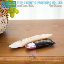 30mm diâmetro maquiagem popular única fundação bb creme forma oval cosméticos atacado pequenos tubos recipiente