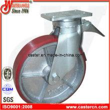 Roulette d'échafaudage en PU robuste de 12 pouces