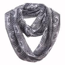 Frau Mode Apollo gedruckt Polyester Chiffon Infinity Schal (YKY1107)