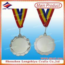 China Factory preço de venda de metal branco medalhas olímpicas