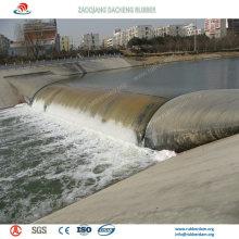 Barrage en caoutchouc gonflable salable de Bookend pour la protection contre les inondations