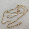 Love Wish Pearl Plating Rose Gold Chain Necklace