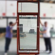 Toldo Ventanas Tamaños de vidrio templado americano SGCC Ventana de marco de madera de roble importada con luz