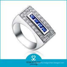 Cheap Blue 925 Sterling Silver Ring for Promotion (R-0045)