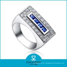 Anel de Prata Esterlina Azul 925 Barato para Promoção (R-0045)
