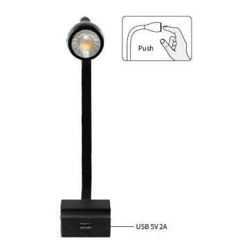 Lampe de table LED flexible DC12V USB