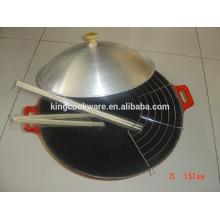 fundição de ferro fundido China wok tray