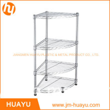 30L*30W*80h Cm 4-Shelf Bathroom Shelving, Wire Storage Rack, Corner Shelving