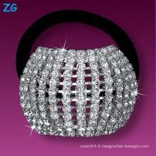 Magnifique bande de cheveux en cristal, bande de cheveux française, accessoires pour cheveux bande de mariage