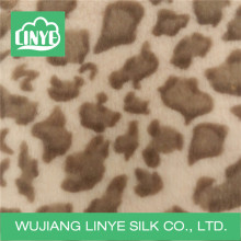 knitted 100% acrylic leopard print fabric, faux fur blanket fabric