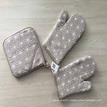 factory direct cotton Heat Resistant Gloves/Oven Mitts/Pot Holder/BBQ Cooking
