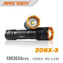 Maxtoch ZO6X-3 Zoom de emergência lanterna recarregável