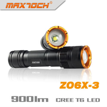 Maxtoch ZO6X-3 Zoom Torch Emergency Rechargeable Flashlight