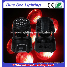 New product 7x10w rgbw 4in1Led Mini moving head light price