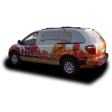Bubble Free Car Vinyl Sticker with Shape Cutting