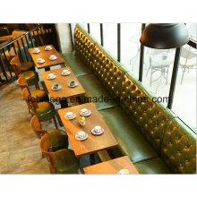 Juegos de sillas de sofá de cuero verde a medida de diseño elegante (FOH-PT1)