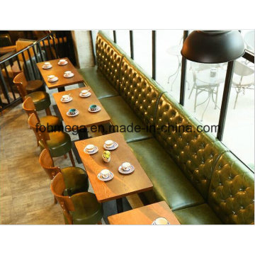Fancy Design Customized Green Leather Sofa Chair Sets (FOH-PT1)