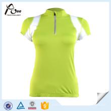 Пользовательские с коротким рукавом Джерси велосипед одежда для женщин