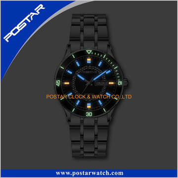 high Quality Fashion 316L Stainless Steel Watch Luminous Light up Watch