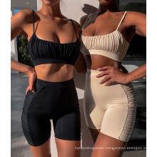 High Quality Women Sweatshirts Lady Sports Bra Set with Shorts Women Sweat Shorts Set