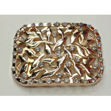 Engraved Fleur Alliage Rhinestone Fancy Shoe Buckle