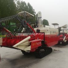 automatic compound axial flow threshing rice harvester
