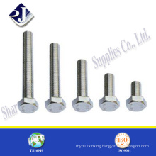 Quality Stainless Steel 304 or 316 Hex Bolt