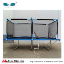 Outdoor trampolim de fitness retangular para crianças