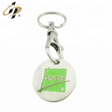 Promotion bulk item made own design custom enamel coin holder key ring