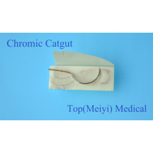 Surgical Suture with Needle -- Chromic Catgut Surgical Suture