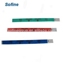 Одноразовые водонепроницаемые браслеты Tyvek Wristband & Id, дешевые подгонянные браслеты ткани