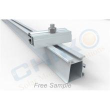 PV Solar Panel System Aluminum Mount Rail solar mounting system roof rail solar panel rail splice for solar panel