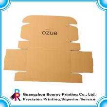 Guangzhou Fabrik maßgeschneiderte Schuhpapier braun Handwerk Box