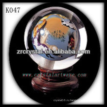 красивый кристалл K9 мяч K047