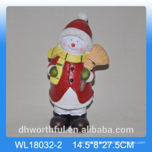 Christmas gift ceramic ornament in santa shape