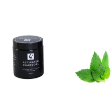 Organic fda activated coconut charcoal teeth whitening powder bamboo toothbrush