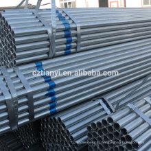 Tuyaux en acier galvanisé et tubes en Chine