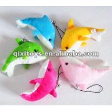 lindo mini felpa y peluche de juguete delfín llavero