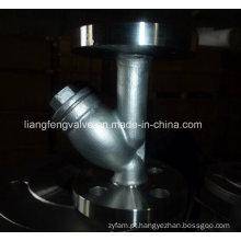 Filtro Y de aço carbono da extremidade da flange RF
