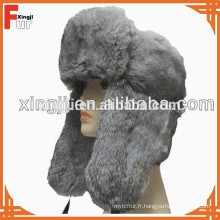 Top qualité chinois véritable couleur naturelle chinchilla lapin chapeau de fourrure