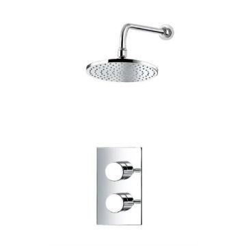 Термостатический смеситель для ванны с двойным контролем Скрытый клапан