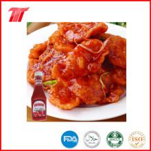Tomate-Ketschup in 340 G-Plastikflasche der natürlichen Farbe