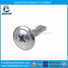 4.8 grau de zinco de aço carbono galvanizado parafuso de perfuração auto cabeça de telhado
