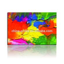 Pintura a óleo abstrata colorida / Dropshipping da lona Impressão De Canvas Envolvida Paypal / pintura de suspensão da arte da parede