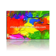 Красочная абстрактная живопись маслом / Dropshipping холст печать Paypal / настенная картина искусства